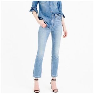 J. Crew Billie demi boot crop jeans in light wash
